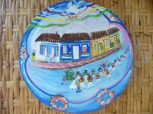 Casas da Estação Socorro representadas em Arte Naif por Marinilda B. Boulay (Presidente do ITC).