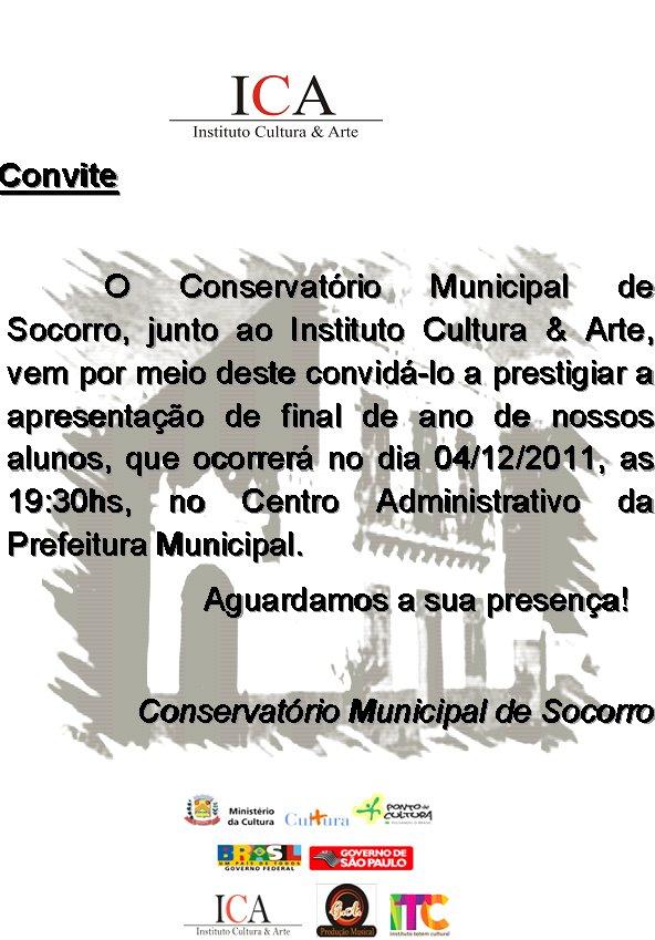convite para 04/12/2011